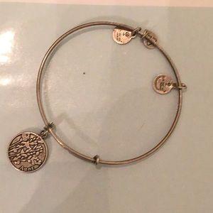 Alex and ani gold bracelet like new AUNT CHARM HTF